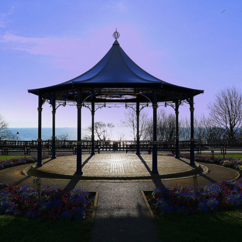 Bandstand and shadows - Peter Salvage