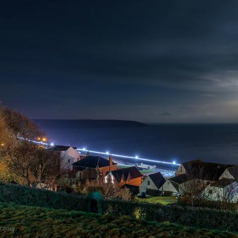 Moonlit Filey Bay - David Eccles