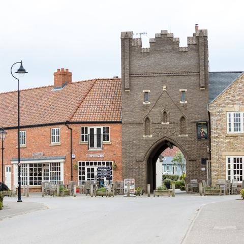 The pub, leisure centre and Italian restaurant area
