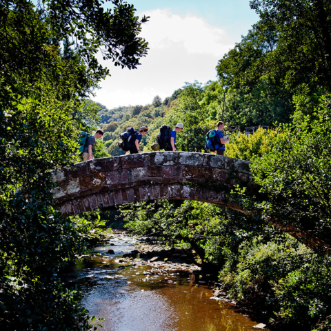 Beggars Bridge walkers - Chris J Parker