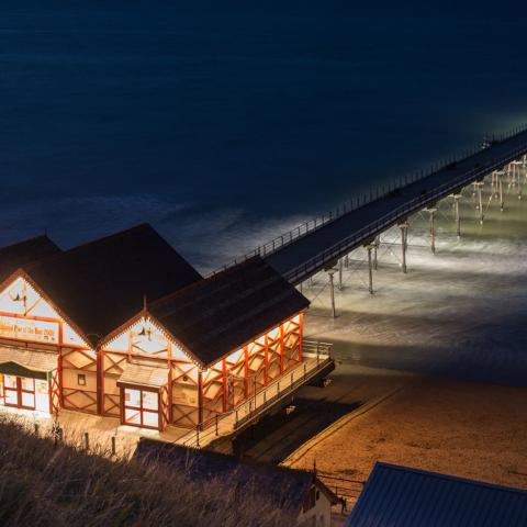 Saltburn Pier at night - Colin Carter